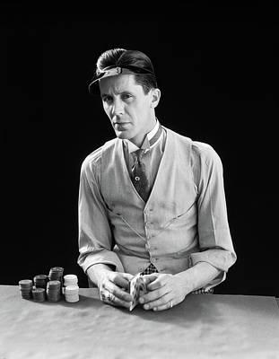 1910s 1920s Character Man Gambler Poster
