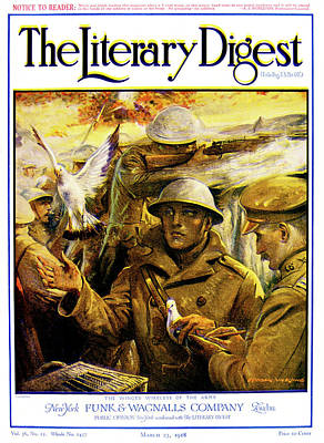 1910s March 1918 Cover Literary Digest Poster
