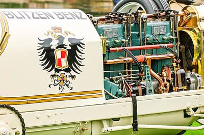 1911 Benz 200 Hp  - Blitzen Benz Engine2 Poster