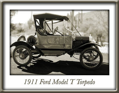 1911 Ford Model T Torpedo Poster by Jill Reger