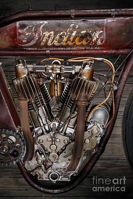 1912 Indian Board Track Racer Engine Poster