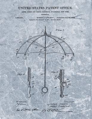 1912 Umbrella Patent Poster