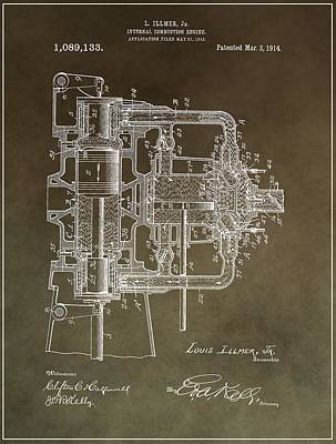 1914 Engine Patent Poster by Dan Sproul