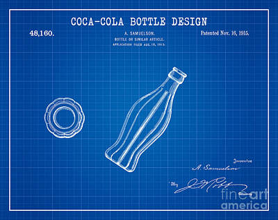 1915 Coca Cola Bottle Design Patent Art 2 Poster by Nishanth Gopinathan