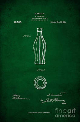 1915 Coca Cola Bottle Design Patent Art 4 Poster by Nishanth Gopinathan