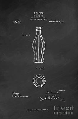 1915 Coca Cola Bottle Design Patent Art 6 Poster by Nishanth Gopinathan
