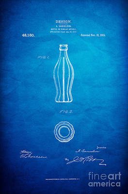 1915 Coca Cola Bottle Design Patent Art 7 Poster by Nishanth Gopinathan