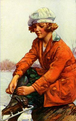 1915 Ice Skating Poster