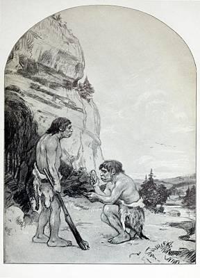1916 C. Knight Osborn Neanderthal Artwork Poster by Paul D Stewart