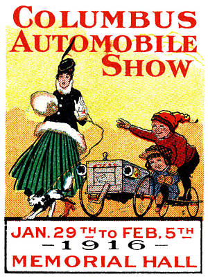 1916 Columbus Auto Show Poster by Historic Image