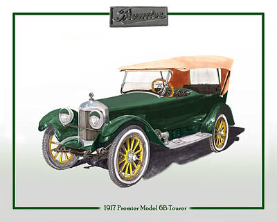 1917 Premier One Touring Sedan Poster by Jack Pumphrey