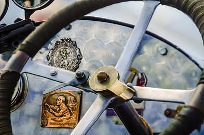 1920 Bugatti Type 13 Steering Wheel - Dashboard -1634c Poster by Jill Reger