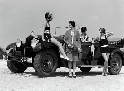 1920s 1930s Four Women Poster