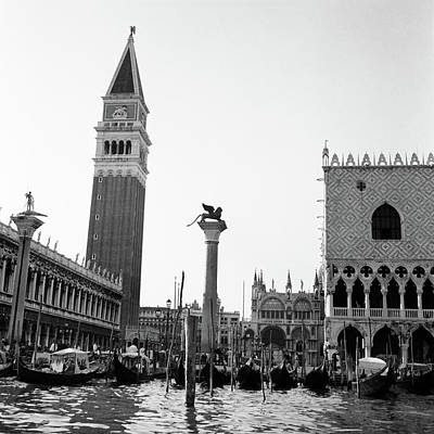 1920s 1930s Venice Italy Piazza San Poster