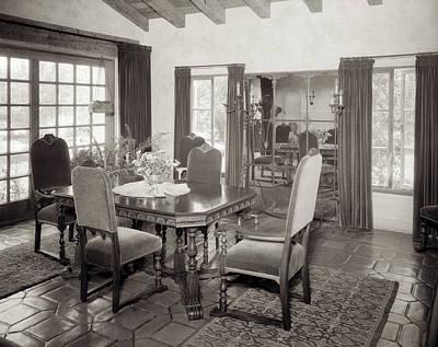 1920s Interior Upscale Mediterranean Poster