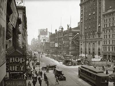 1920s Overhead Sixth Avenue Hippodrome Poster