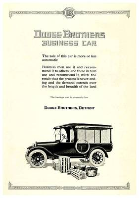 1921 - Dodge Brothers Business Car Truck Advertisement Poster