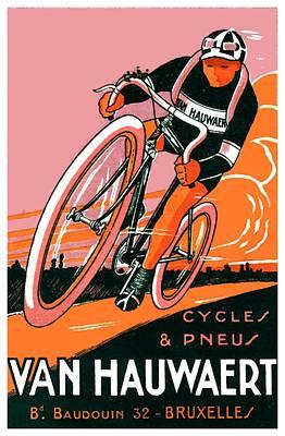 1921 - Van Hauwaert Bicycle Belgian Advertisement Poster - Color Poster by John Madison