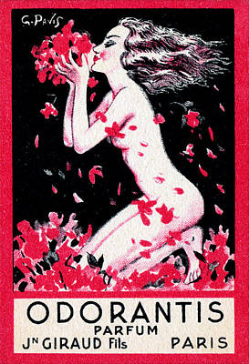 1922 Odorantis French Perfume Poster by Historic Image