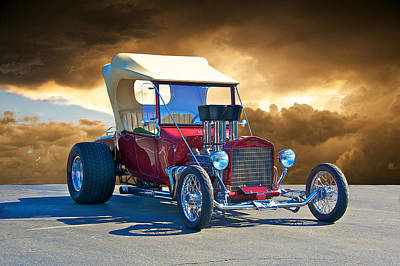 1923 Ford 'inject T' Roadster Poster by Dave Koontz