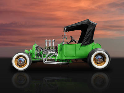 1923 Ford T-bucket Street Rod Poster by Frank J Benz