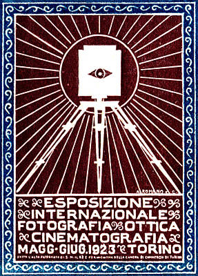 1923 Turin Italy Photography Exposition Poster by Historic Image
