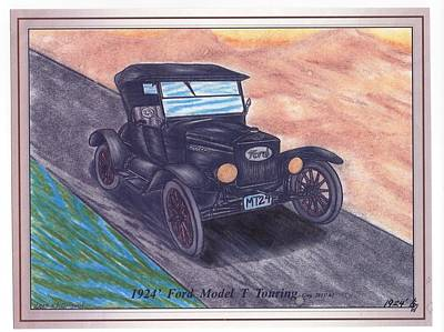 1924' Ford Model-t Touring Poster by Gene Pippert