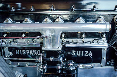 1924 Hispano-suiza Engine Emblem -0120c Poster by Jill Reger
