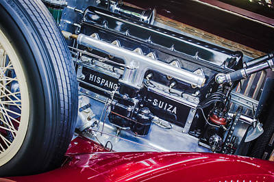 1924 Hispano-suiza H6b Dual  Cowl Sport Phaeton Engine Emblem Poster by Jill Reger