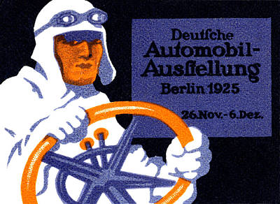 1925 Berlin Car Show Poster by Historic Image