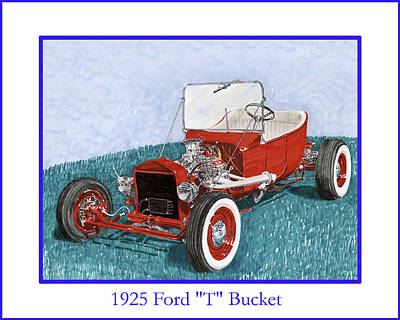1925 Ford Hot Rod T-bucket Poster by Jack Pumphrey