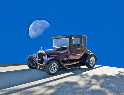 1926 Ford Model T Coupe Poster by Dave Koontz