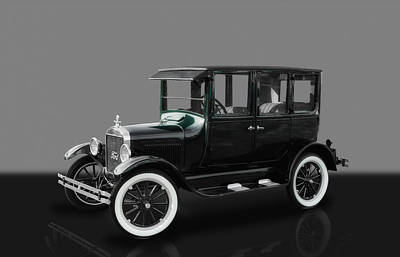 1926 Ford Model T Sedan Poster by Frank J Benz