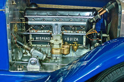 1926 Hispano-suiza Engine Poster by Jill Reger