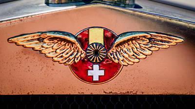 1926 Hispano-suiza H6b Torpedo Emblem Poster by Jill Reger