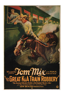 1926 The Great Train Robbery Movie Art Poster