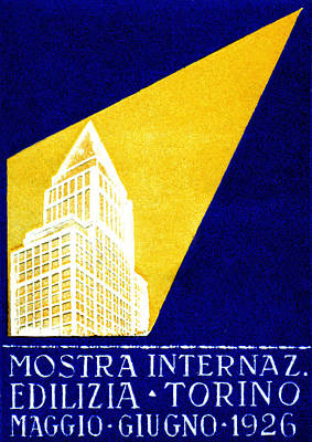 1926 Turin Italy Architecture Exposition Poster by Historic Image