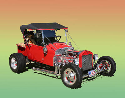 1927 Ford T Bucket Rag Top T Bucket Poster by Jack Pumphrey