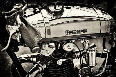 1927 Triumph Tt Racer Motorcycle Sepia  Poster