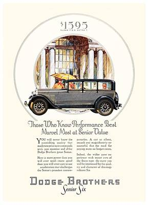 1928 - Dodge Brothers Automobile Advertisement - Color Poster