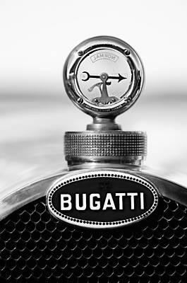 1928 Bugatti Type 44 Cabriolet Hood Ornament - Emblem Poster
