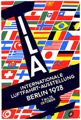 1928 International Air Show Poster by Historic Image