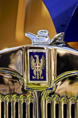 1929 Bianchi S8 Graber Cabriolet Hood Ornament And Emblem Poster