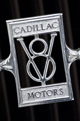 1929 Cadillac Dual-cowl Phaeton Emblem Poster by Jill Reger