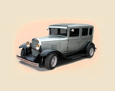 1929 Chevrolet Stovebolt Six Sedan Poster by Jack Pumphrey