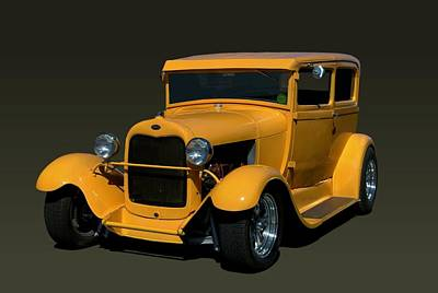 1929 Ford Model A Sedan Hot Rod Poster by Tim McCullough