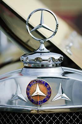 1929 Mercedes-benz Ss Barker Roadster Hood Ornament - Emblem Poster by Jill Reger