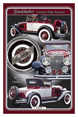 Poster featuring the photograph 1929 Studebaker President by Ed Dooley