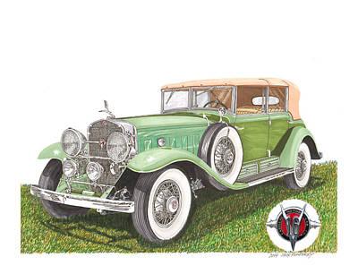 1930 Cadillac Dual Cowl Phaeton Poster by Jack Pumphrey