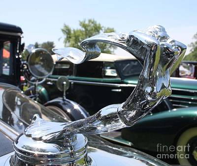 1930 Cadillac V-16 Imperial Limousine Hood Ornament Poster by John Telfer